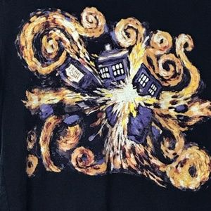 Doctor Who Ripple Junction T-Shirt Size M TARDIS
